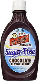Fox's Ubet Chocolate Syrup, Sugar-Free, 18 Ounce Bottle