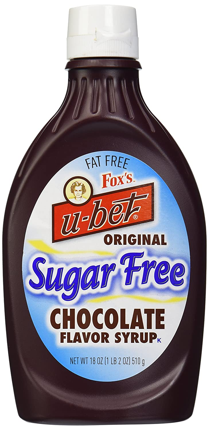 Fox's Ubet Bombing new work Chocolate Syrup Cheap mail order shopping 18 Bottle Sugar-Free Ounce