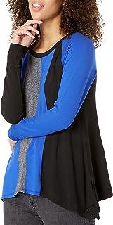Calvin Klein Women's Triple Color Sharkbite Pullover