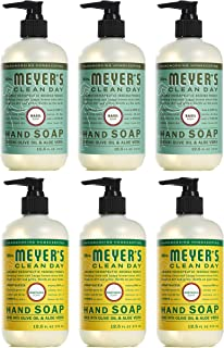 Mrs. Meyer's Clean Day Liquid Hand Soap, Cruelty Free and Biodegradable Formula (Basil - Honeysuckle)
