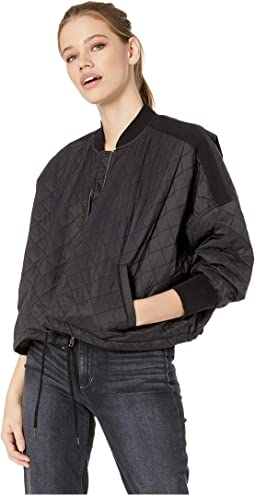 Girl Friday Quilted Bomber Jacket with Rib Trim