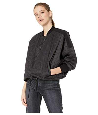Jack by BB Dakota Girl Friday Quilted Bomber Jacket with Rib Trim (Black) Women