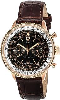 [ゾンネ]SONNE 腕時計 パイロットクロノグラフタイプII アイボリー文字盤 HI004PG-BR メンズ