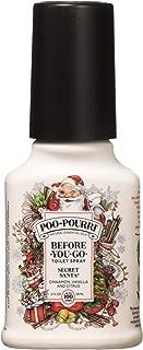 Poo-Pourri Secret Santa Claus Christmas Bathroom Spray 2-Ounce Bottle, 2 Ounce, 2 Ounce