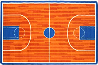 Mybecca Kids Rug Basketball Ground 5' x 7' Children Area Rug for Playroom & Nursery - Non Skid Gel Backing (59