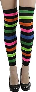 Women's Acrylic Horizontal Stripes Knee Hi Leg Warmer