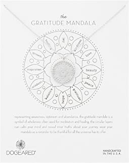 Dogeared - Gratitude Mandala Center Flower Necklace