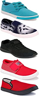 WORLD WEAR FOOTWEAR Sports Running Shoes/Casual/Sneakers/Loafers Shoes for Men Multicolor (Combo-(5)-1219-1221-1140-689-1024)