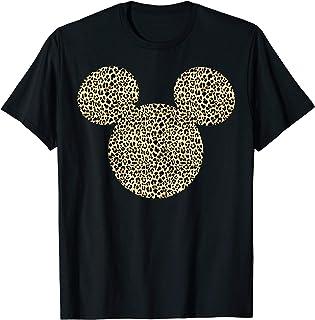 Disney Mickey Mouse Cheetah Print Silhouette Fill T-Shirt