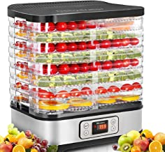 Food Dehydrator Machine, Digital Timer and Temperature Control, 8 Trays, for...