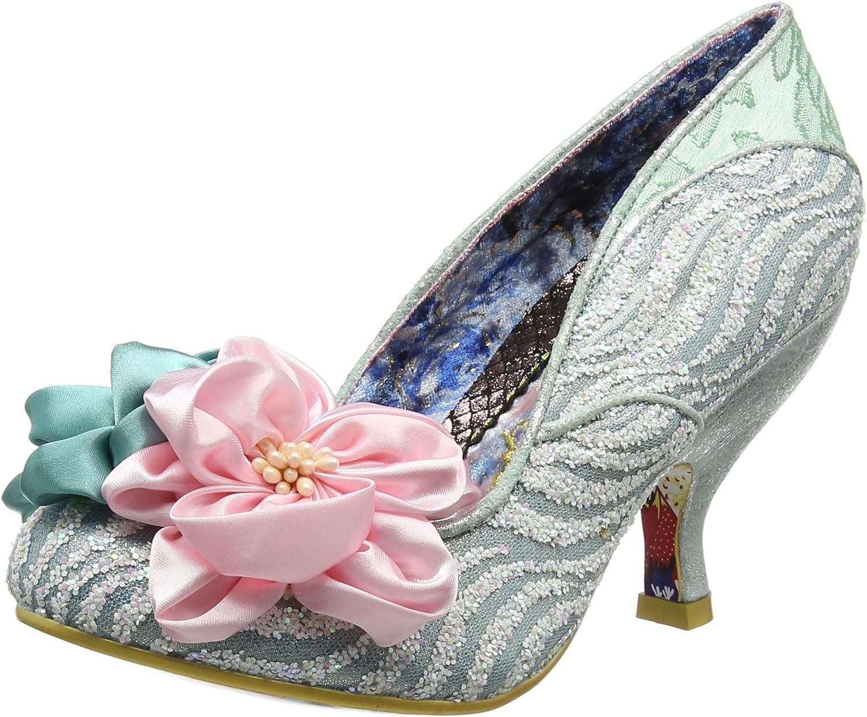 Irregular Choice Womens Little Peaches Mint Green Pink Glitter shoes Size