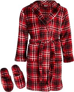 Boys' Coral Fleece Plush Robe & Slipper Set
