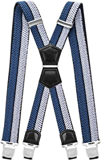 8d86355a1b722 Decalen Bretelles pour Hommes Une Taille Convient Tous Les Clips Forts  Style X Diverses Couleurs