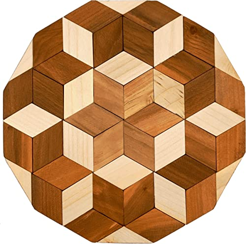 high quality Decorative Wooden Trivet for Table - discount Large Wood Trivet Hot online sale Pads for Hot Dishes - Round Table Runner Wood Hot Plate Pad outlet sale