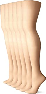 Women's Sheer To Waist Toe Pantyhose 6-Pack