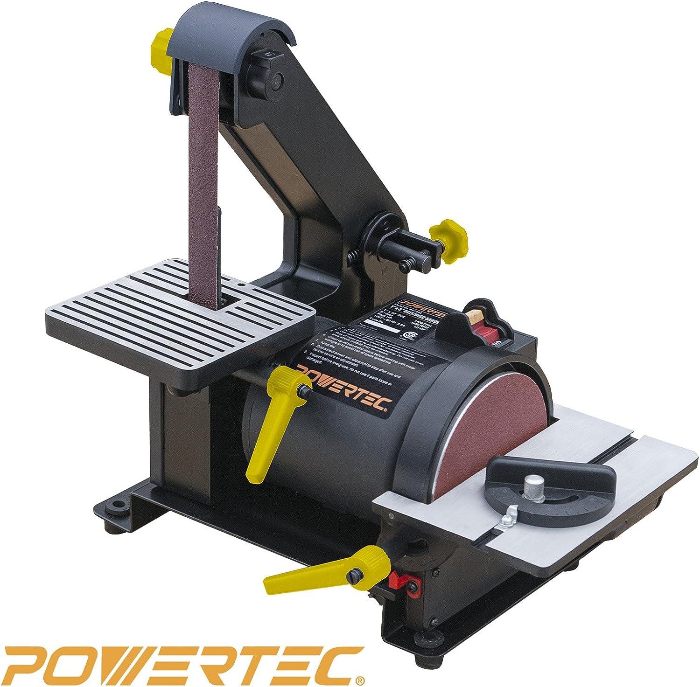 POWERTEC BD1500 Belt Disc Sander for Woodworking | 1 in. x 30 in. Belt Sander with 5 in. Sanding Disc