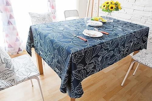 Europa Bl er Gestalten Baumwolle & Polyester Tischdecke zum Zuhause Hotel Cafürestaurant - Mehrere Grün und Farben Verfügbar LAD-I , Blau , 14025cm