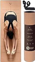 KAIZENLY Pro Milieuvriendelijke Yogamatte - Natuurlijke Kurk, Uitstekende Grip - Yoga Mat met Draagband - Voor Yoga, Pilat...