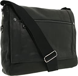 "Kenneth Cole Reaction ""Busi-Mess Essentials"" - Single Gusset Flapover Messenger Bag"