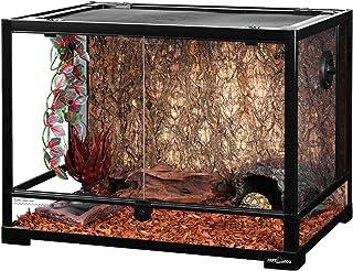 """REPTI ZOO Large 34 Gallon Reptile Glass Terrarium Tank,Front Opening Door 24"""" x 18"""" x 18"""" Double Hinge Door with Screen Ve..."""