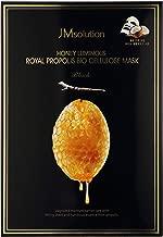 JM Solution Honey Luminous Royal Propolis Bio Cellulose Mask Black - Pack of 10