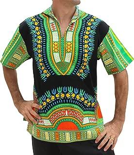 RaanPahMuang Brand Thin Bright Dashiki Windbreaker Hoody Short Sleeve
