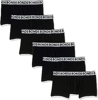 Bonds Men's Underwear Fit Trunk, Black, (6 Pack)