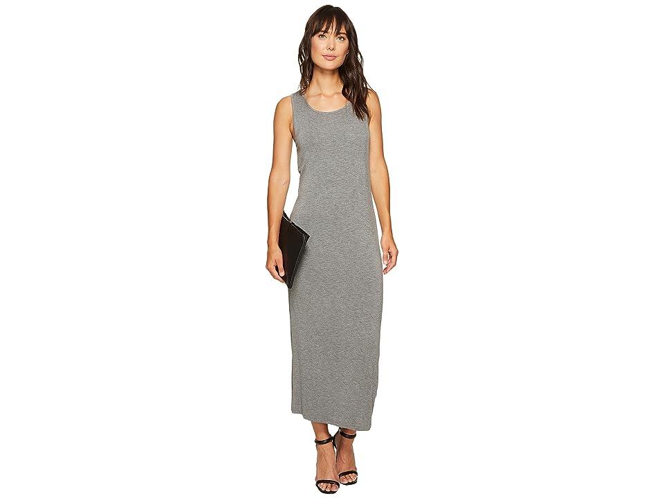 kensie Subtle Slub Tees Dress with Open Back KS6K7978 (Heather Ash) Women