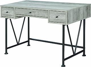 Coaster 801549-CO Grey Driftwood Writing Desk, Grey Driftwood