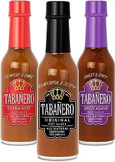 Tabañero Fiesta 3-Flavor Hot Sauce Variety Pack, 5oz. Bottles (Tri-Pack)