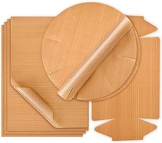 GOURMEO papel de horno permanente, 4x 32 x 46 cm; 1x 40 cm diámetro - reutilizable, capa antiadhesivo, permanente, se puede lavar en lavavajillas, recortable | folio de horno, papel de horno