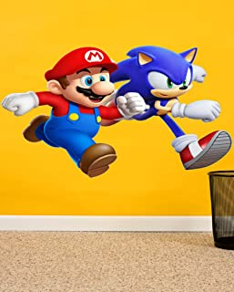 Mario & Sonic Forever Cartoons Wall Sticker Wall Sticker for Bedroom Wall Art Wall Poster PVC Vinyl
