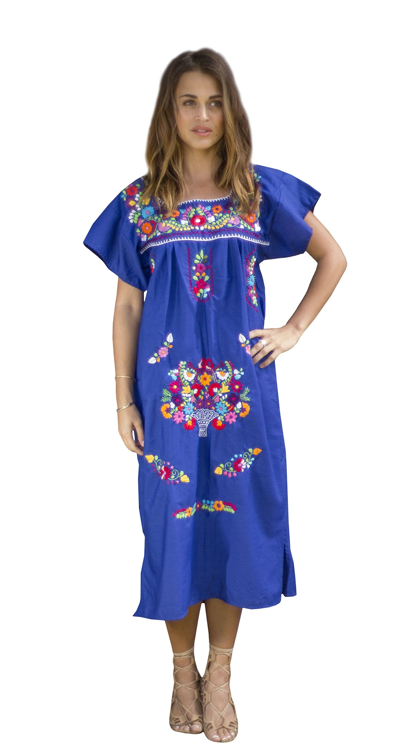 Available at Amazon: Liliana Cruz Embroidered Mexican Peasant Dress
