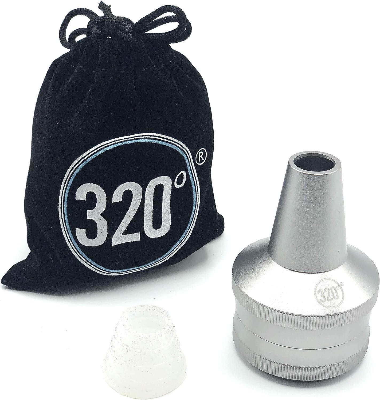 320° universal Melaza Catcher para Hookah Shisha CNC de aluminio con bolsa de terciopelo y silicona ojal (Plata)