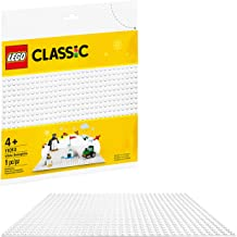 LEGO Classic White Baseplate 11010 Creative Toy for Kids, Great Open-Ended Imaginative Play...