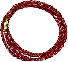 African Waist Beads, Waist Beads, Red African Waist Beads