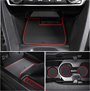 JKCOVER Compatible for 2016-2018 10th Gen Honda Civic Cup, Door and Center Console Liner Accessories 15-pc Set(Front Seat,...