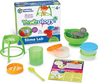 Learning Resources Yuckology Slime Science Set, Stem, Early Science Skills, DIY Slime, STEM Skills, Measurement, Color Mixing, Ages 4+