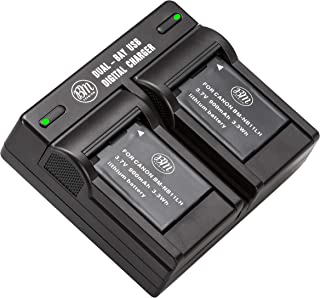 BM Premium 2 Pack Of NB-11L, NB-11LH Batteries and Dual Battery Charger Kit for Canon PowerShot Elph 110, Elph 130, Elph 135 IS, Elph 140 IS, Elph 150 IS, Elph 160, Elph 170 IS, Elph 180, Elph 190 IS, Elph 320 HS, Elph 340 HS, Elph 350 HS, Elph 360 HS, A2300 IS, A2400 IS, A2600 IS, A3400 IS, A4000 IS, SX400 IS, SX410 IS, SX420 IS Digital Camera