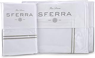 Sferra Grande Hotel Sheet Sets - White/Grey King White 77320KGSET-WGR