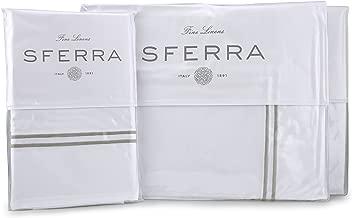 Sferra Grande Hotel Sheet Set - King - White/Grey