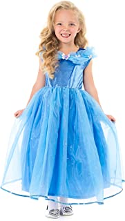 Little Adventures Deluxe Cinderella Butterfly Princess Dress Up Costume for Girls