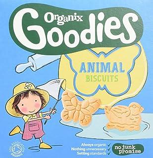 Organix Los Extras Orgánica Galletas Animales 12Mth + (100g) (Paquete de 6)