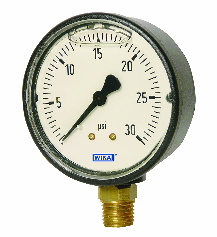 Direct store WIKA 9677941 Commercial Popular product Pressure Gauge Al Copper Liquid-Filled
