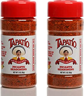 Tapatio Picante Salsa Seasoning Salt Spice Mix | Mexican Hot Sauce Dry Rub Powder Blend | No MSG, Gluten Free, Vegan and Keto Friendly, 0 Cals | Marinade for Steak, Hamburger, Poultry, Seafood, Fruit