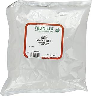 Frontier Co-op Mustard Seed, Yellow Mustard Powder, Certified Organic, Kosher | 1 lb. Bulk Bag | Sinapis alba L.