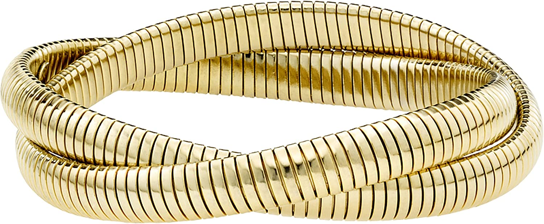 JANIS BY JANIS SAVITT Double Cobra Bracelet - High Polished Gold