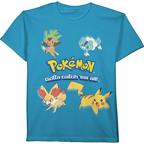 b3ad86e1 Pokemon Gotta Catch 'em All Pikachu Boys T-Shirt Blue
