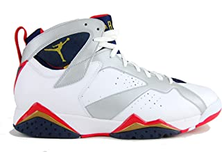 Air Jordan 7 Retro (Olympic) White/Metallic Gold-Obsidian-Tr Rd