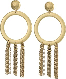 Lucky Brand O Tassel Earrings
